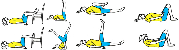 Вправи лежачи на спині проти варикозу