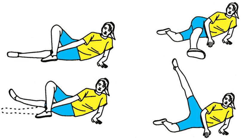 Упражнения лежа на боку против варикоза