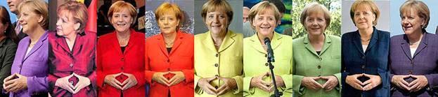 Положення рук у Ангели Меркель